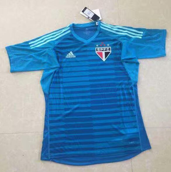 Sao Paulo FC Goalkeeper Soccer Jerseys 2018-19 Blue Football Shirts